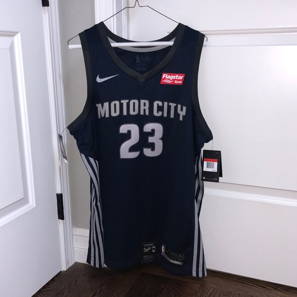 check out 946b0 5f03c Detroit Pistons Griffin Motor City Jersey